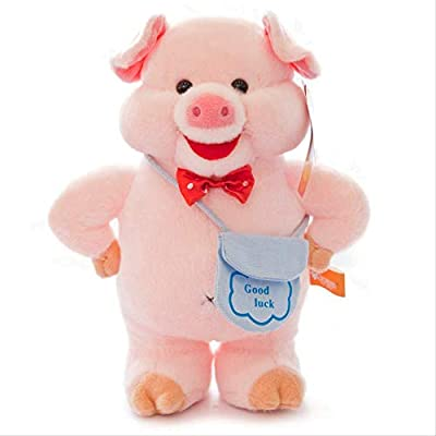 bozhengzb Juguetes De Felpa, Mochila Cerdo Feliz Cerdito Muñeca Cerdo Año Cerdo Mascota por bozhengzb
