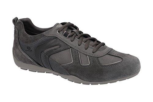 Geox U843FA Uomo Ravex Sportlicher Herren Sneaker, Schnürhalbschuh, Freizeitschuh, Atmungsaktiv Grau (DK Grey), EU 43 - Keil Fell Stiefel