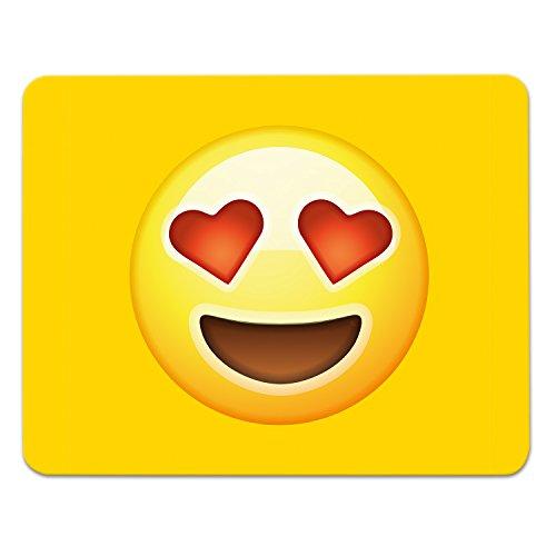 addies mousepad Emoji/Emoticons. Bellissimo Mouse, motivo in fine confezione regalo cellophane con materiale gomma sotto, 240x 190mm, motivo: Love - Regalo Materiale