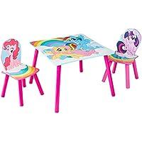 My little Pony Set aus Tisch und 2 Stühlen für Kinder, Holz, Mulitcolour, 63 x 63 x 52.5 cm preisvergleich bei kinderzimmerdekopreise.eu