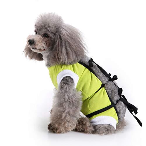 VICTORIE Mascotas Trajes de recuperación quirúrgica Ropa Chaleco de recuperación pequeños Gatos y Perros Verde S