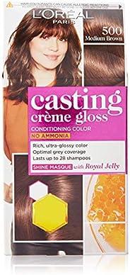 L'Oreal Paris Casting Creme Gloss Hair Color, Medium Brown 500, 87.5g+72ml