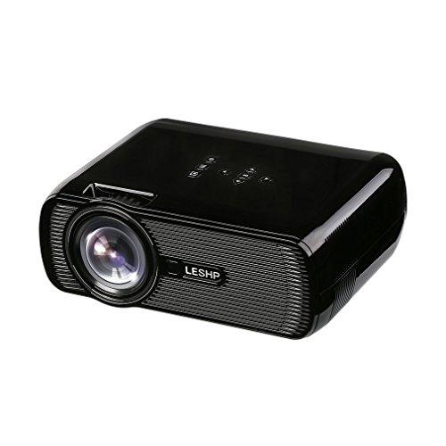 """Vidéoprojecteur Tsing BL80-Advanced Mini Projecteur 1300 LM(Max) Portable TFT LCD LED Full HD 1080P 130 """" Divertissement Cinéma Domicile Théâtral Multimédia Conférence pour PC Tablet/ Smartphone etc douille EU (Blanc)"""