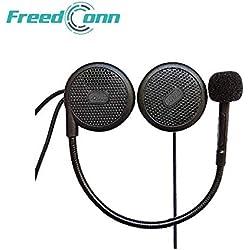 FreedConn L1M Casque Moto Bluetooth Casque écouteur Casque étanche Interphone Interphone intégré Mic, équipement de Communication de Conduite Moto