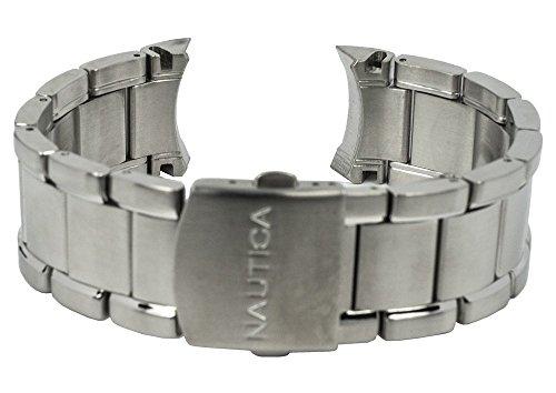 Nautica Ersatzband Uhrenarmband Edelstahl Band silbern A24533G / NCT 402 / Ø 47mm / 28485