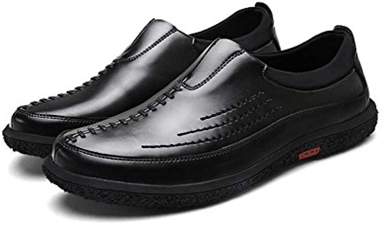 Zapatos Respirables del Trabajo de los Hombres Zapatos Casuales Salvajes Moda Verano Nuevo Estilo (Color : Negro...