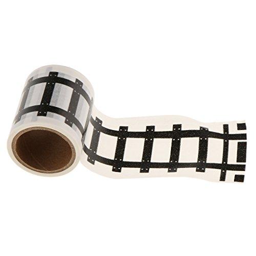 Gazechimp Kreativ DIY Verkehr Eisenbahn / Autobahn / Straße Klebeband Aufkleber Tape für Kinder Zug Modell Spielzeug - Eisenbahn - Autos Züge, Modell