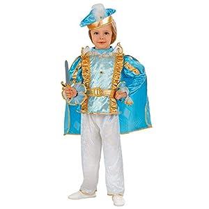 WIDMANN 49209 - Disfraz infantil de príncipe de ensueño (104 cm), color azul turquesa