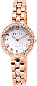 Modor Modern Hues Analogue White Dial Rose Gold Wrist Watch for Women
