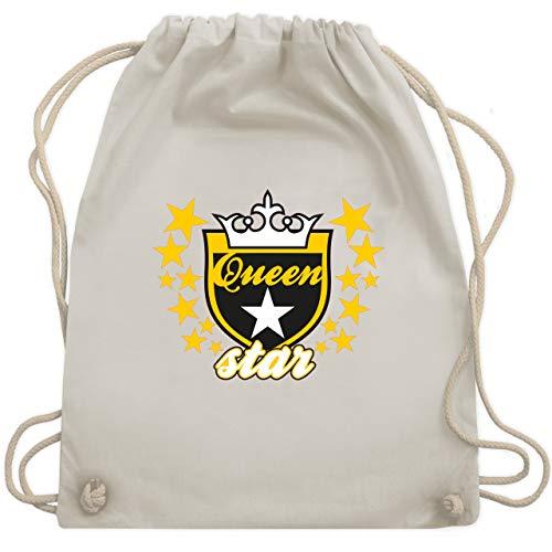 Typisch Frauen - Queen Star - Unisize - Naturweiß - WM110 - Turnbeutel & Gym - Damen Eishockey Kostüm