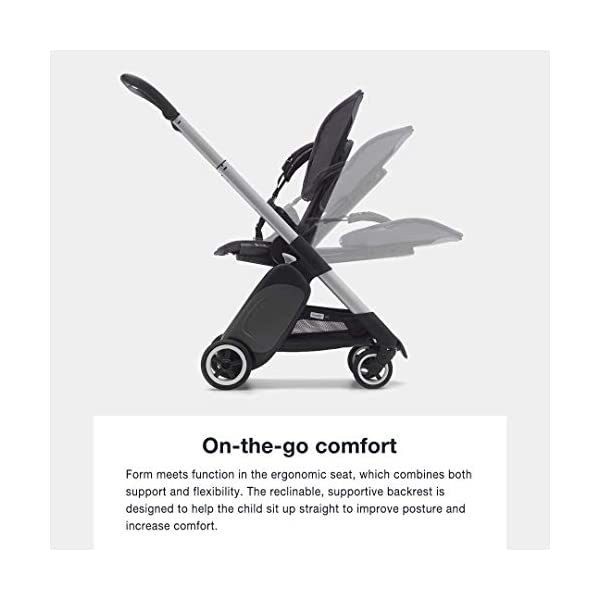 Bugaboo Ant, Lightweight Travel Pushchair with Compact Fold, Converts Into Pram, Black/Neon Red Bugaboo Suitable from birth to toddler Car seat compatible Lightweight and easy to carry 7