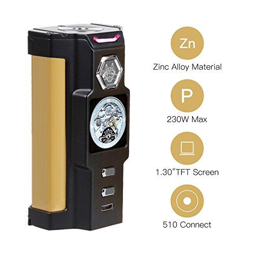 SIGELEI E Zigarette 230W TC Box Mod SNOWWOLF Riesige Dampf Elektronische Zigarette Verdampfer, Keine Batterie, E Flüssigkeit, Nikotinfrei - Sigelei Elektronische Zigarette