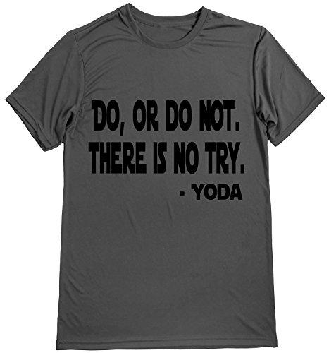 Lustige Tee-small Black T-shirt (Running On The Wall Performance Dry Sportshirt - Herren Läufer Kurzarm - Activewear - Do not, Herren, Gray-Black, Small)