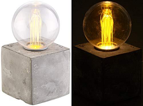 Lunartec Beton Lampe: Deko-Tischleuchte mit LED und Beton-Sockel, USB- oder Batteriebetrieb (Betonsockel Lampe)