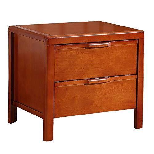 ZXH77f Massivholz Nachttisch 2 Schubladen Nachttisch Aktenschrank Zeitgenössische Vintage Schlafzimmer Wohnzimmer Schrank Beistelltisch (Color : A) - 2 Schubladen Zeitgenössischer Schrank