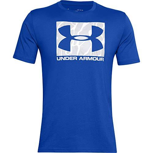 Under Armour Herren Kurzarmshirt Camo Boxed Logo, Blau, MD, 1351616-486
