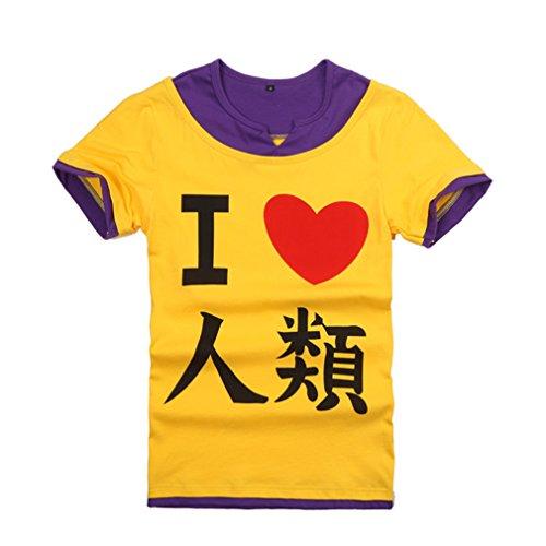 No No Game Cosplay Kostüm Life - Bromeo No Game No Life Anime Kostüm Short Sleeves Kurze Ärmel Tee T-Shirt