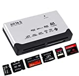 ADATECH USB 2.0 Lector de Tarjetas Memoria Multi TF Micro SD XD MMC MS CF SDHC Mini M2 BLANCO