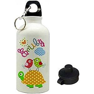 Trinkflasche mit Name, Schildkröte, für Kinder, geeignet für Kita, Kindergarten oder als Geschenk zur Einschulung, zum Geburtstag, zu Weihnachten oder zu anderen Gelegenheiten.
