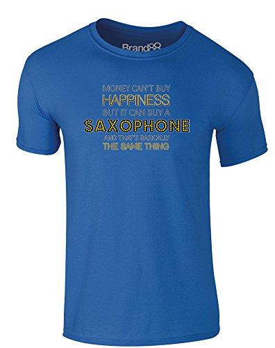 Brand88 - Money Can Buy A Saxophone, Erwachsene Gedrucktes T-Shirt Königsblau