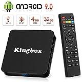 Android 9.0 TV Box 4K Boîtier TV [4GB RAM+32GB ROM ] USB 3.0 [2019 Dernière Version] SUPERPOW K4 S Android 9.0 Smart TV, Android Box avec HD/H.265 / 4K / 3D / BT4.1 (k4 s)