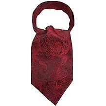3 Pièce Homme Cravate Tie Ascot Cravate Écharpe en Polyester Soie Retro Classque pour Travail Fête Cérémonie Mariage