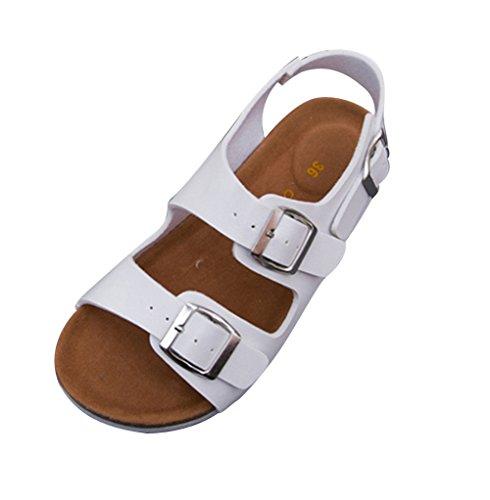 Sandálias Sapatos Confortáveis Cortiça Chinelos Sapato Das Confortáveis Sandálias mulas chinelos Branco Traipse Mulheres YECfwZ