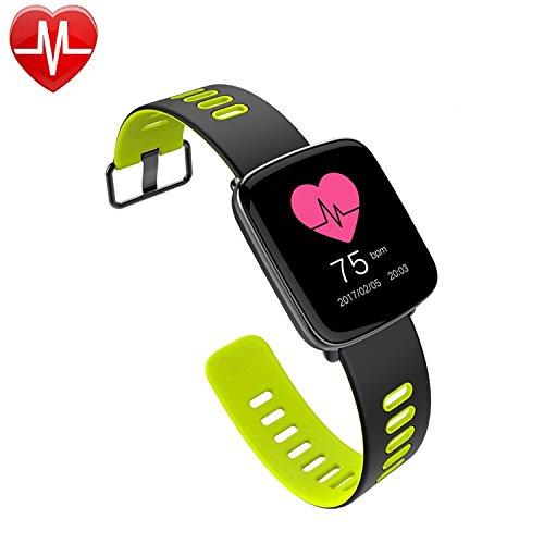 Willful smartwatch con Pulsómetro Impermeable IP68 Reloj inteligente Fitness Tracker con cronómetro  Monitor de sueño monitor de ritmo cardíaco Podómetro  Contador de caloría calendario control remoto de música Pulsera Actividad pulsera inteligente para Android y IOS (verde)