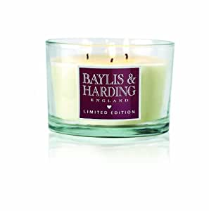 Baylis & Harding Strawberries and Cream 3 Wick Candle