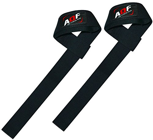 AQF-Weight-Lifting-Gym-Straps-Padded-Crossfit-Wrist-Support-Wraps-Hand-Bar-Bodybuilding-Training-Workout-Multi-Colour-Black-Gel-Grip