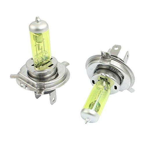 Preisvergleich Produktbild DealMux 2 Stück Auto H4 gelbe LED Nebel-Glühlampe Innen
