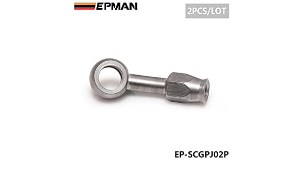 Epman EP-SCGPJ02P 2PC 2Pcs//Lot AN-3 10mm 28 Degree Stainless Steel Banjo Eye Brake Hose Fitting For Car Auto Motorcycle