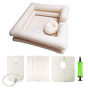 REAQER Aufblasbares Shampoo Becken Portable Faltbar für Behinderte/ältere Menschen/Schwangerschaft BPA-frei