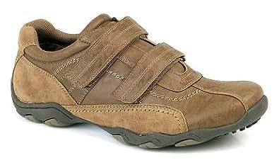 Route 21 - Basket Chaussure Sport pour Hommes Marron Velcro Décontracté - 42