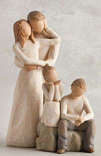 Susan Lordi Willow Tree Familie 20 - Willow Tree Paar mit Tochter und Sohn