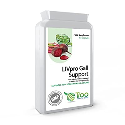 LIVpro Gall Support 60 Capsules - Natural and Effective Liver and Gallbladder Cleansing Supplement - UK Manufactured GMP Guaranteed Quality