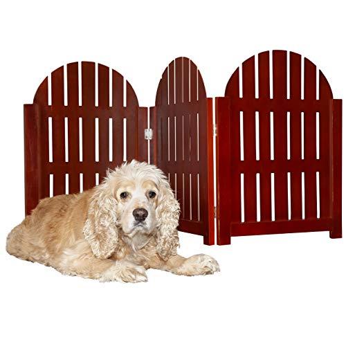 Furhaven Pet Paw Print Ausschnitt Finish Pet Holz Gate Barriere