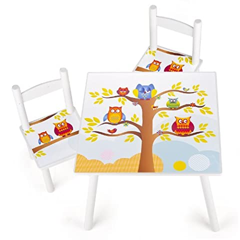 Tisch und Stühle für Kinder Tiere, 1 Tisch + 2