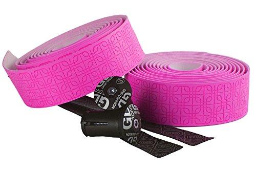GD Grip Division® reißfestes Mikrofaser Rennrad Lenkerband | sehr weich und griffig | Premium Qualität | neon-pink