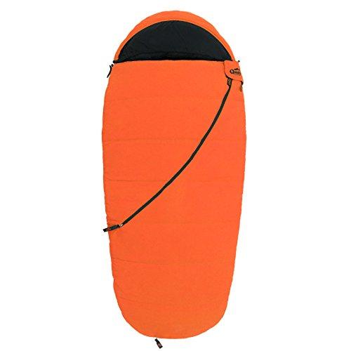Qeedo Kinder-Schlafsack, Buddy Junior (bis 155 cm Körpergröße) - orange -