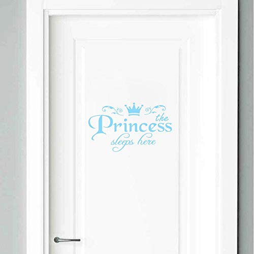 mbare Prinzessin schläft Hier wandaufkleber Kunst Vinyl tür abziehbilder Home Baby mädchen kinderzimmer Schlafzimmer schlafsaal dekor ()