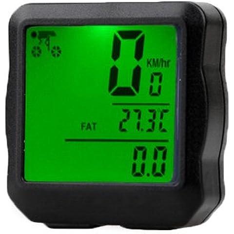 E9Q impermeable Luz de fondo Digital Bicicletas cuentakilómetros velocímetro Reloj Cronómetros