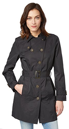 TOM TAILOR Damen Mantel Modern Trench Coat Black
