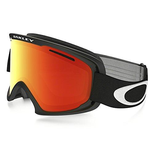 Oakley O2 XL Mat pour homme asiatique Fit Snocross motoneige Lunettes Eyewear – Noir/Fire Iridium/Taille Unique