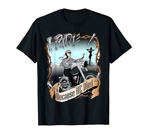 Ich reite christlichen Radfahrer-Hemd-Motorrad Jesus Christ T-Shirt -