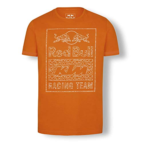 Red Bull KTM Mosaic Graphic T Shirt, Rosso Uomo Large Maglietta, KTM Factory Racing Abbigliamento & Merchandising Ufficiale