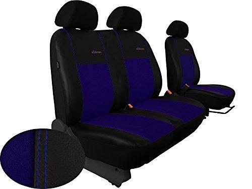 Autositzbezüge BUS 1+2 ALKANTRA EXCLUSIVE passend für FORD TRANSIT in diesem Angebot BLAU (In 5 Farbe5911990009391n bei anderen Angeboten erhältlich) . Sitzbezug Fahrersitz + 2er Beifahrersitzbank + 3 Kopfstützen
