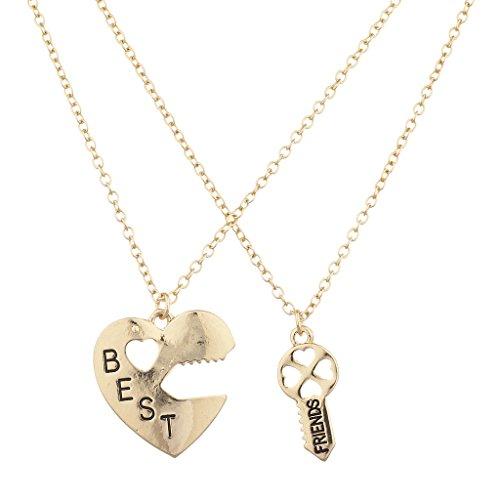 lux-accesorios-dorado-best-friends-bff-corazon-cerradura-y-clave-encanto-collar-2pc
