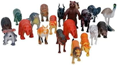 Vibgyor Vibes Vibgyor Zoo Wild Animals Figures Set for Kids - Pack of 20 Animals, Small
