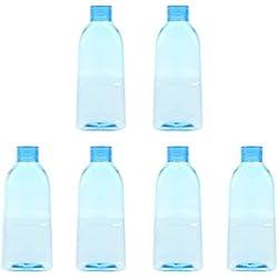 CUTICATE 6 Piezas De Plástico Recargables Botellas De Enjuague Bucal De Viaje Vacías Lavaojos Champú Lociones Contenedores 100 Ml 250 Ml - Azul 250ml